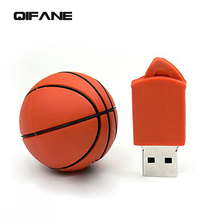 QIFANE Creative circular U Disk 16G Cartoon pen drive 4G 8G Basketball USB Flash Drive 32GB 64G Lovely Football memory stick