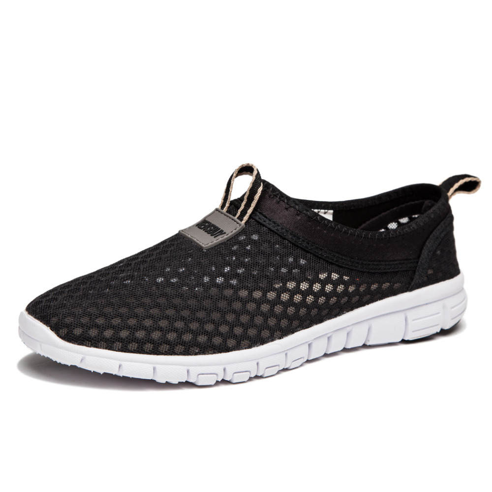 2017 Men New Casual Shoes Breathable Mesh Zapatos Lightweight Slip On Comfortable Soft Fashion Flat Sapatilhas Beach Shoes<br><br>Aliexpress