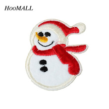 Hoomall Brand 20PCs Santa Claus Embroidery Patches For Clothing Motif Patches Sew On DIY Garment Stickers Christmas Decorations(China)
