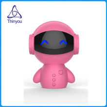 Thinyou portable Robot Wireless Mini Bluetooth Speaker Stereo Handsfree Noise Cancelling AUX TF MP3 Music Player Cell phone(China)