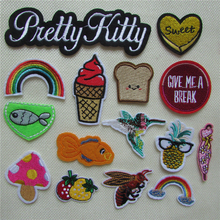 1pcs sell fashion style hot melt adhesive applique embroidery patch DIY clothing accessory patches stripes C5101-C5122