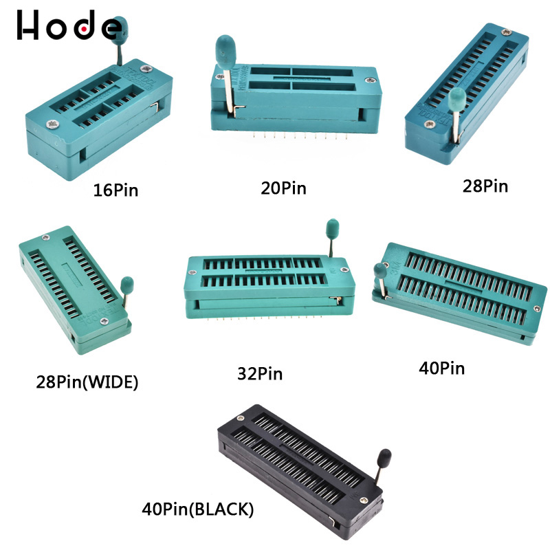 28-Pin 28P Narrow Body Universal ZIF Test DIP IC Socket Connector NEW
