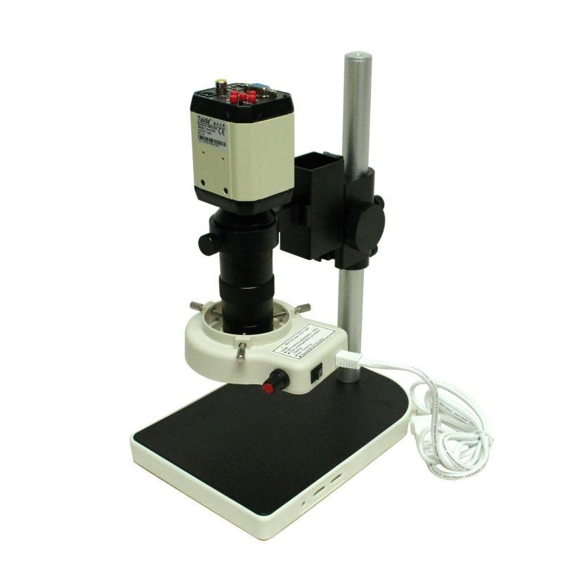 3in1 HD 2.0MP industrie reglable industrielle Microscope camera VGA CVBS AV TV USB sortie + C - mount  Lens + Table Stand Holder<br><br>Aliexpress