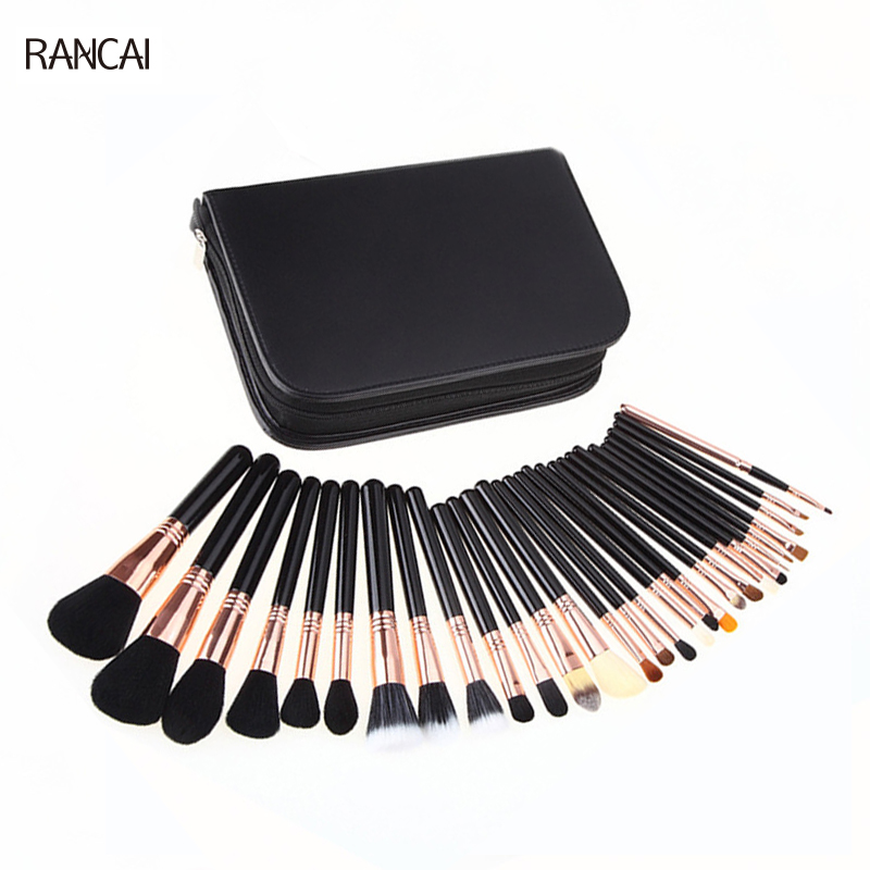 29pcs Luxury Makeup Brushes Complete Kit Extravganza Copper Kit Collection pinceis maquiagem 20sets/Lot Free Shipping<br>