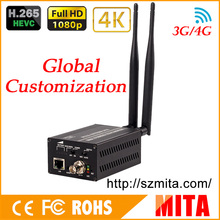 Full HD H9 H.265/H.264 3G/4G sdi wifi  to dvb-c encoder modulator to VLC Media Server Xtream Codes