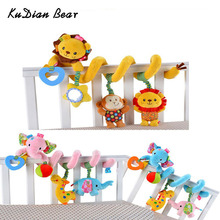 KUDIAN BEAR New Infant Baby Toys Revolves Baby Bed Rattles Toys 0-12 Months Play in Stroller Car Baby Mobile Toys BYC045 PT49(China)
