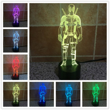 Usb 3d Lamp Three-dimensional Lamps Led Personality Wood Decoration Table Lamp Night Light Atmosphere Night Light