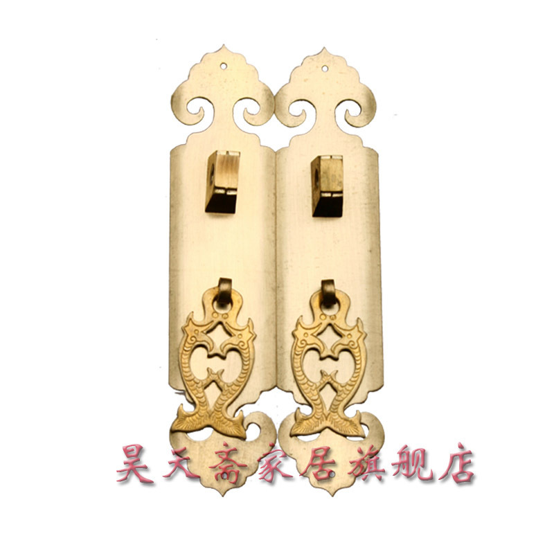 [Haotian vegetarian] Chinese home copper fittings / copper straight / large wardrobe door handle HTC-053<br><br>Aliexpress