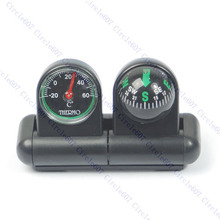 S103  Free Shipping Boats Cars Vehicles Navigation Compass Ball Thermometer