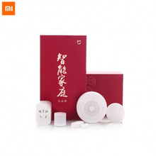 New Gift box Original Xiaomi Smart Home Kit Gateway Door Window Sensor Human Body Sensor Wireless Switch Zigbee Socket Sets(China)