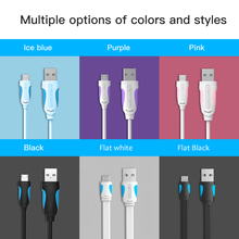 Colorful Fast Charger Micro USB USB ChargeR Data Cable For Samsung Andriod Data Cable(China)