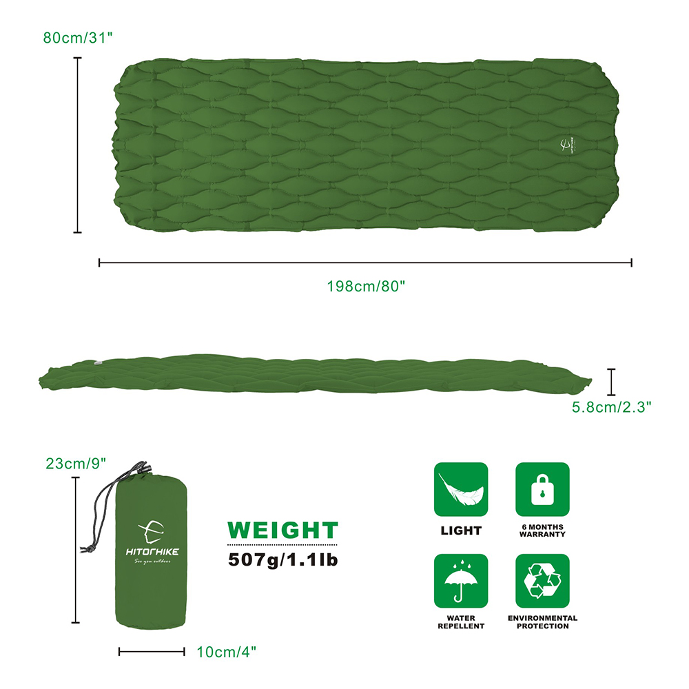 Inflatable sleeping pad 2.2
