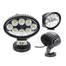 4x4 car accories wholesale led truck light 12 volt 24w led work light oval for truck tractor offroad ATV SUV