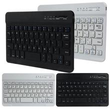 2017 HOT SALE New Ultra Slim Aluminum Wireless Bluetooth Keyboard For IOS Android Windows PC working time 40 hours 59 keys Nice(China)