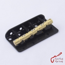 1 Set Wilkinson WBBC Four 4 Strings Electric Bass Bridge With Brass Saddles For Precision Jazz Chrome MADE IN KOREA(China)