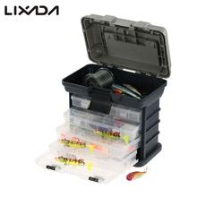 Lixada Fishing Box 23 * 11.5 * 3.5cm Sea Boat Fishing Lure Accessory Box Case Utility Box Water Resistant Fishing Tackle Box(China)