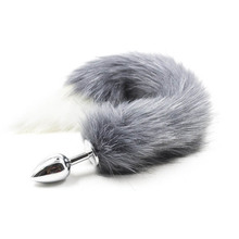 Buy Faux Fox Tail Anal Plug Stainless Steel Metal Anal Butt Plug Anal Plug Tail Anal Sex Toys Women Adult Sex Products