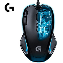 Logitech G300S Wired Optical Gaming 9 Programmable Buttons 2500DPI Ergonomic Mouse For PC Laptop Gamer Support Certification(China)