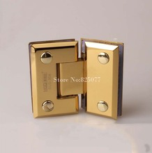 Free shipping PVD titanium 135 Degrees open 304 Stainless Steel Wall Mount Glass Shower Door Hinge Hypotenuse Hinge HM161