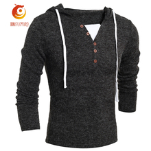 2017 New Spring Design Pull Homme Sweater Men Brand Clothing Black Fashion Men's V-neck Sweaters Casual Long Sleeve Pullover Men