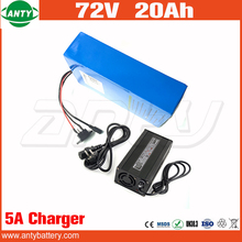 E Scooter Lithium Battery 72v 20Ah 1500w Built in 30A BMS with 84v 5A Charger 20S 10P Electric Bicycle Battery 72v Free Shipping