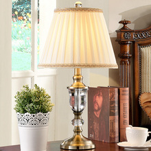 Lace Fabric Lampshade New Design Modern Table Lamps Glass Desk Light Lustre Lampe Decor For Living Room Table Lighting