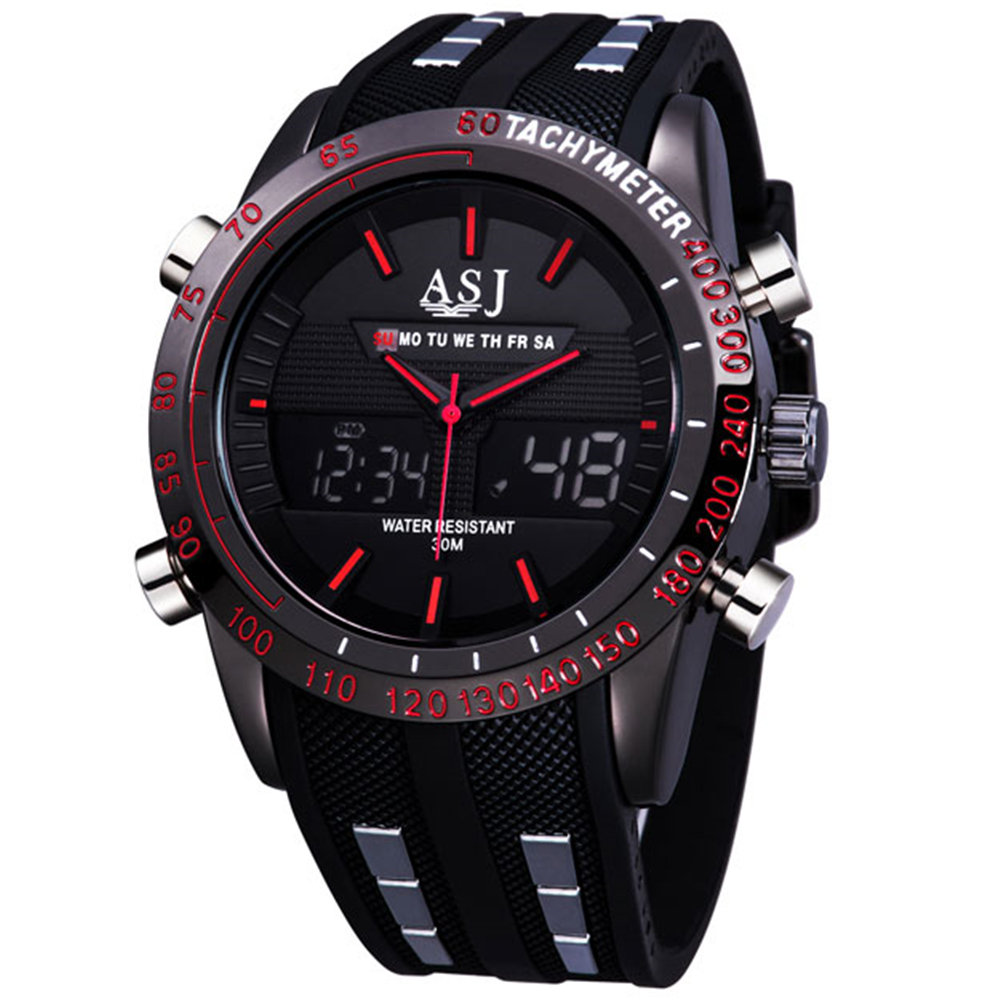 2017 fashion brand design digital LED man male classic clock army cool sport military wrist quartz business gift watch 067<br><br>Aliexpress