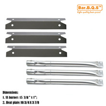 Hisencn BBQ Charmglow 3 Burner Heavy Duty 810-7400-S Replacement Burners & SS Heat Plates Grill Burner Cooking Barbecue(China)