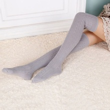 Best Selling New Style Women Winter Stockings Over Knee Thigh-Highs Hose Stockings Knitted Warm Stockings(China)