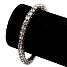 Vintage Silver Plated Bling Full Rhinestone Miami Cuban Chains & Bracelets Sets Women Men Charm Hip Hop Jewelry Gifts Necklaces