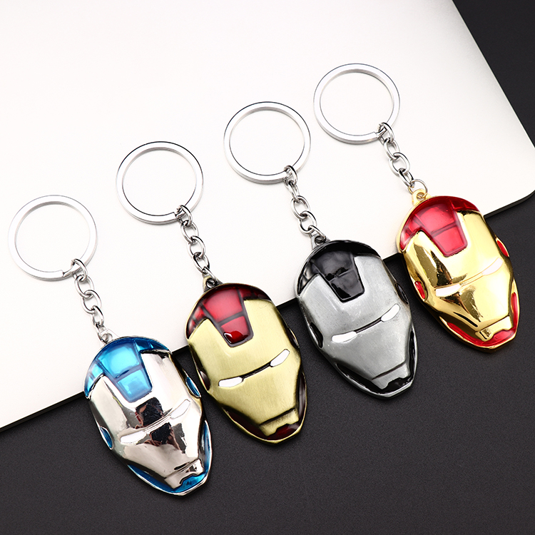 Metal Marvel Avengers Captain America Shield Keychain Spider man Iron man Mask Keychain Toys Hulk Batman Keyring Key Gift Toys (112)