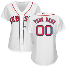 MLB Women's Boston Red Sox White Home Cool Base Custom Jersey(China)