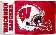 Wisconsin Badgers Football Helmet banner Flag 3x5ft(China)