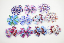 Multi Styles Anna Elsa Ribbon Baby Bow clip Princess Queen Bows With Hairpins Children Hair Accessories Girls Hair clip 48Pcs(China)