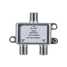 High Quality 2 In 1 Dual-use 2 Way Diplexer TV Signal Mixer Satellite Sat Coaxial Combiner Cable Splitter Switch Switcher(China)