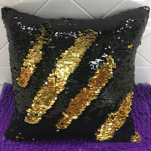 Sequins Mermaid Pillow Case Car Decoration Cushion Cover Magical Color Changing Reversible For Sofa Bed Decor Throw almofada