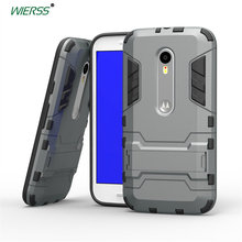 3D Shockproof Stand case for Motorola Moto G 2015 3rd Gen 3 moto G3 Slim Combo Armor case  shell Back cover