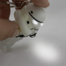 New star wars Stormtrooper LED Flashlight Keychain action toy figures Stormtrooper Key rings with sound gift for child kids toys