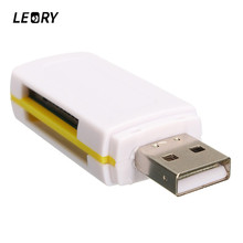 LEORY Universal All In One Card Reader USB 2.0 Multi Card Reader TF/Micro SD/M2/SD/SDHC/MMC/RS MMC MS/MS DUO/MS PRO DUO Adapter(China)