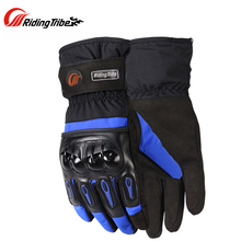 2017 Winter Warm Waterproof Skiing Racing Gloves Touch screen Motorcycle Motocross Cycling Bicycle Travel Luvas Guantes Gloves