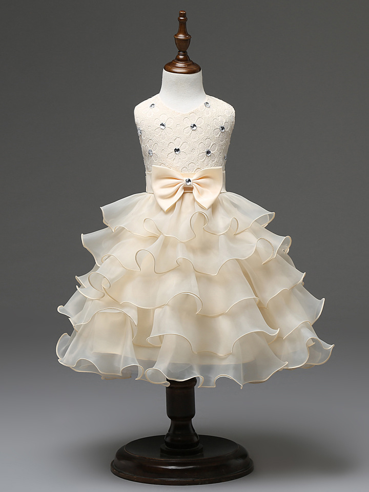 2017 summer new flower girls dresses for party&amp;wedding sleeveless kids tutu dress 100% cotton princess clothessuit 2-8T garcon<br><br>Aliexpress