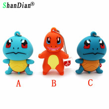SHANDIAN Japanese cartoon Pokemon Pikachu pendrive 4gb 8gb 16gb 32gb keychain cartoon usb flash drive pendriver memory card gift(China)