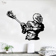 Baseball Player Wall Sticker Vinyl Black 3D Sports Rugby Football Player For Kids Boy Gift Room Home Decor Mural Painting Decals