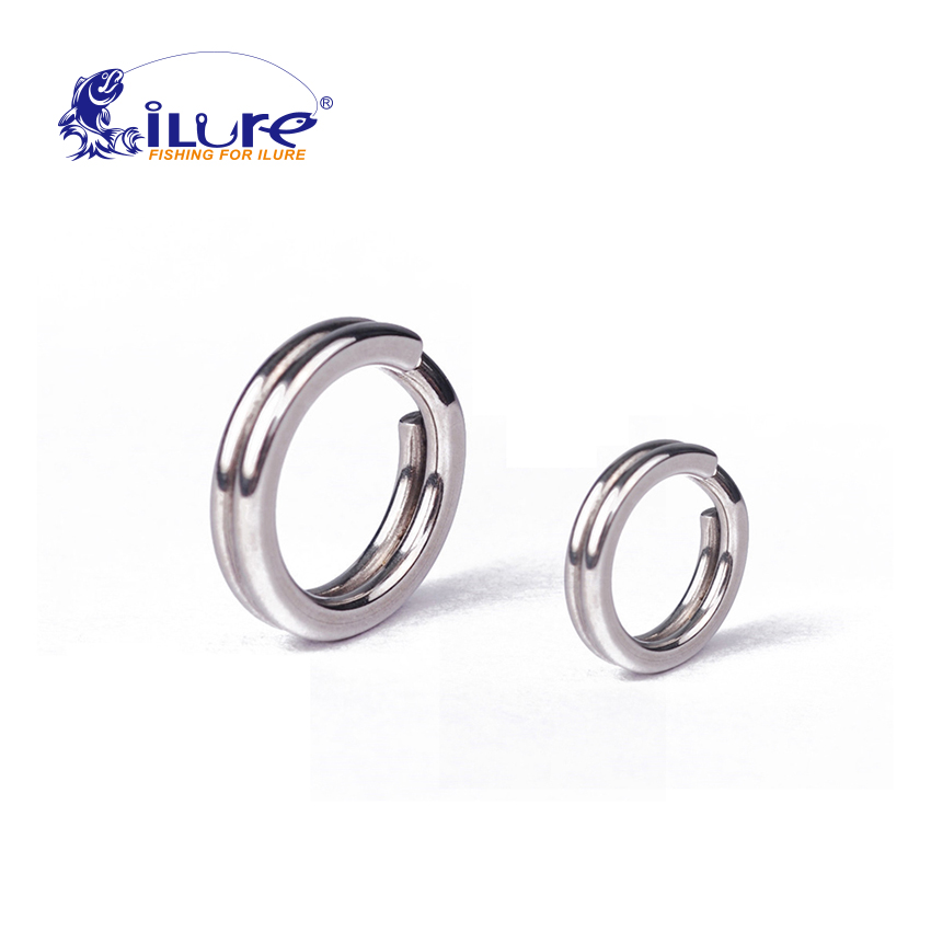 iLure 50 pcs silver color split ring fishing connector brand fish hooks hot pattern recall fishing tackle tools lure hooks pesca(China (Mainland))