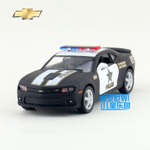 Free Shipping/1:38 Scale/2014 Chevrolet Camaro (Police/Firefighter)/Educational Model/Pull back Diecast Metal toy car/Collection