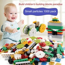 1000 Pcs/Set Children Toy Bulk Building Blocks Mixed Shape Stack Block Baby Kids Educational Toys Gifts M09(China)