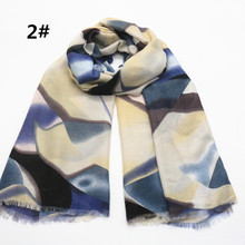 2017 Winter Women Stone Pattern Fringe Scarf Wrap Fashion Geometry Print Luxury Bandana Shawls Wrap Hijab Free shipping(China)