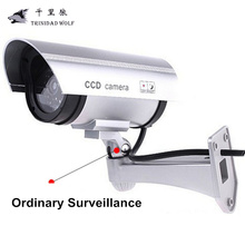 TRINIDAD WOLF Fake Camera High Simulation Indoor Outdoor Gun Type Virtual Security Camera CCTV Bullet Camera Monitor