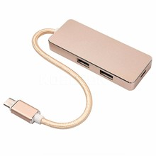 Type C to USB Hub USB 3.0 Charging USB-C Port Charger Wiring Concentrator Hub for Apple for Macbook 12 Inch