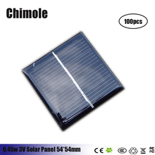 100pcs  0.4W 3V 140mA polycrystalline solar Panel small solar cell PV module for mobile phone battery charger